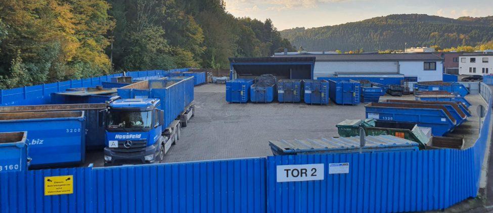 Werk 1 der Hossfeld GmbH in Engelskirchen | Entsorgung und Schrottaufbereitung