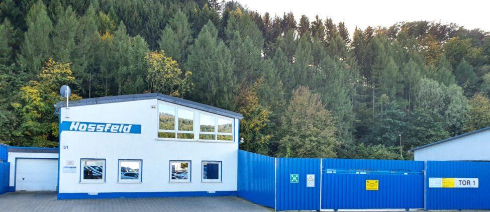 Werk 1 Werk 1 der Hossfeld GmbH in Engelskirchen | Entsorgung und Schrottaufbereitung