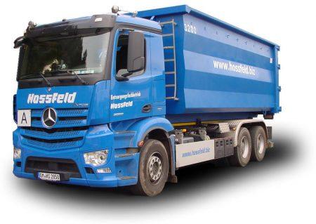 LKW der Hossfeld GmbH in Engelskirchen | Entsorgung und Recycling